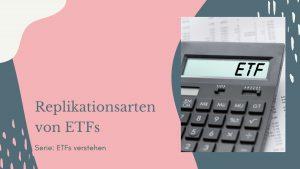Replikationsarten von ETFs
