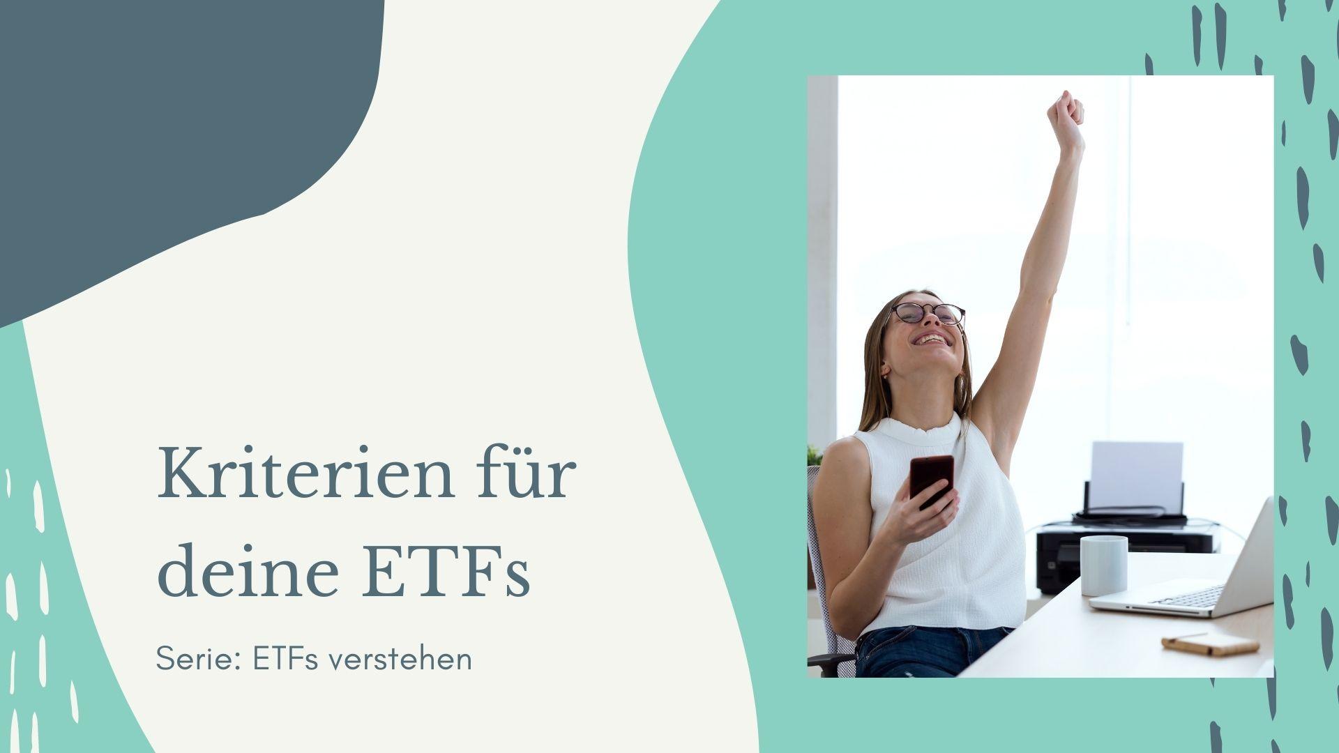 Auswahlkriterien für ETFs